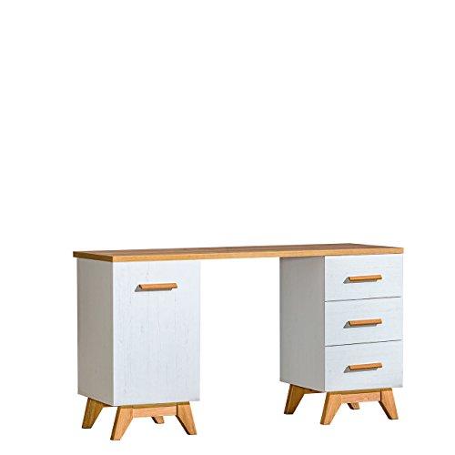 Mirjan24  Schreibtisch Sven SV12 im skandinavischen Stil, Arbeitstisch, Computertisch, PC-Tisch, Laptoptisch, Büromöbel (Andersen Kiefer/Nash Eiche) (Schreibtisch Kiefer Eiche)