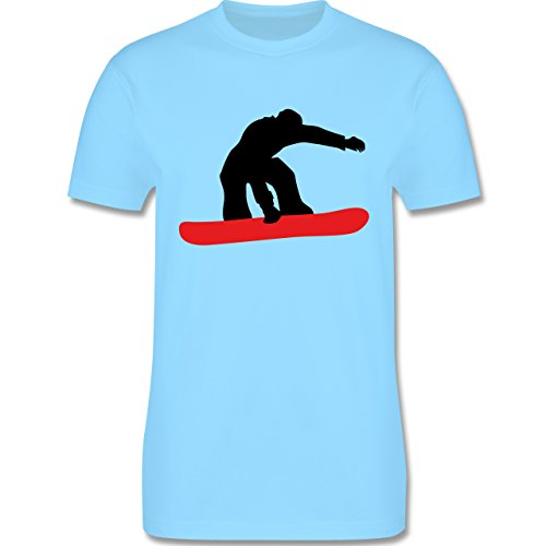 Wintersport - Snowboard Board - Herren Premium T-Shirt Hellblau