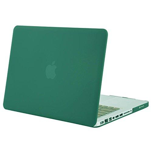 MOSISO MacBook Pro 13 Hülle mit CD-ROM Drive - Ultra Slim Hochwertige Hartschale Tasche Schutzhülle Snap Case für Old MacBook Pro 13 Zoll (A1278, Version Early 2012/2011/2010/2009/2008), Pfau Grün