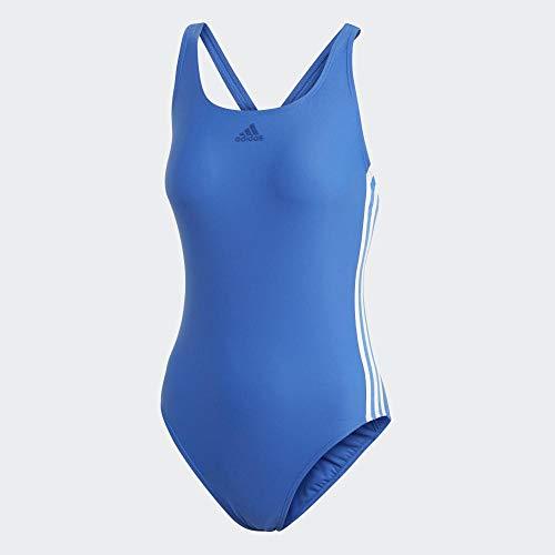 adidas Damen Athly 3-Streifen Badeanzug, Blue, 40