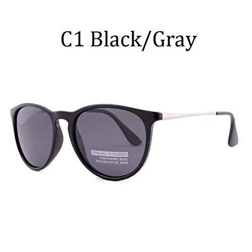 TJJQT Sonnenbrillen Tortoise Brown Polarized Sunglasses Womens Klassische Cat Eye Sonnenbrille für Frauen