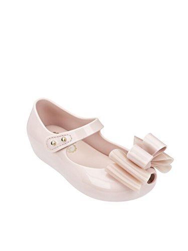 Mini Melissa (+ Vivienne Westwood) Mini Ultragirl Triple Bow Kids Shoes in Blush UK 5 (EUR 21)