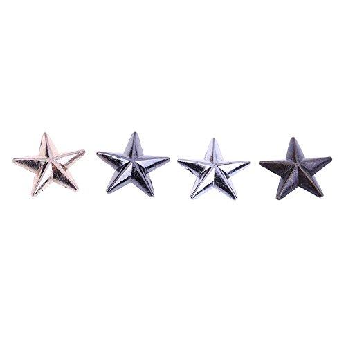 Preisvergleich Produktbild Unterbrechen 20Sets Pentagramm konvex aus Metall Nieten DIY Dekorative Accessoires (Mix Farbe)