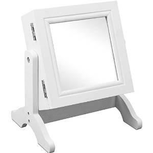Schmuckschrank Spiegel Schmuck Schrank Ständer Spiegelschrank Schminkspiegel weiß -