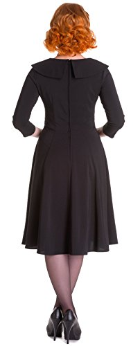 Hell bunny pin up sONIA robe/sWING robe style rockabilly Noir - Noir