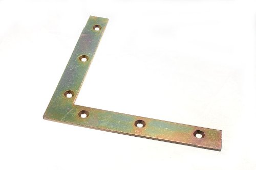 plate coin accolade support 150mm x 22mm x 2.7mm yzp trou de 5mm (pack 4)