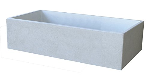 Acquaio da giardino cm78x38x18h grigio graffiato piletta in acciaio inox compresa - scatola