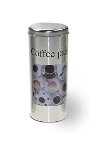 Metalldose Dose Kaffeedose Coffee Pads rund Ø ca. 8x18 cm Metalldosen Kaffee Dosen #1466-Typ-2