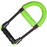Grip Strengthener Wrist Trainer Puller Spring Ejercitador Strength Trainer para Ejercicios de Gimnasia en el hogar (Negro) (Color : Green, tamaño : 25x13x2.7cm)