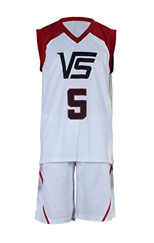 Chong Seng CHIUS Cosplay Costume Jersey Set for Last Game No. 5 Aomine Daiki (Japanese School Boy Kostüme)