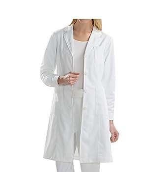 BSTT Donna Camice da laboratorio bianca Abbigliamento da lavoro e divise 2018 nuovo miglioramento Manicotti con bottoni sottile S