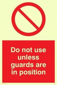 """Viking Schilder pm37-a4p-pv """"Nicht verwenden, wenn Wachen sind in Position""""-Zeichen, Foto Leuchtziffern Aufkleber, 300mm H x 200mm W"""