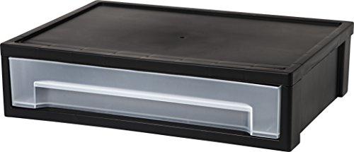 Iris Desktop Buchstabe Größe M Stapeln, Schublade, schwarz, 1er Pack - 5 Schublade Storage Cart