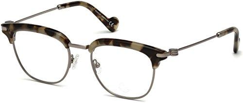 Moncler Unisex-Erwachsene Brillengestelle ML5021 055 49, Braun (Avana COLORATA)