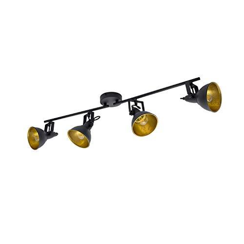 Lámpara de Techo Orientable Emer 4 Focos Negro Negro efectoLED