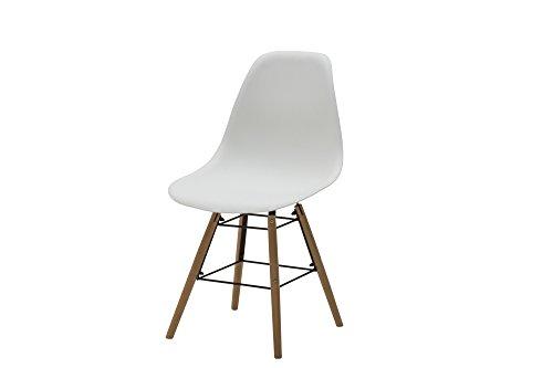 White Loft, Set de 4 chaises, Bois, Blanc, 47 x 52 x 84 cm
