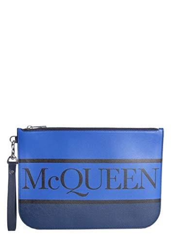 Alexander McQueen Herren 5508151Bukn4678 Blau Leder Clutch