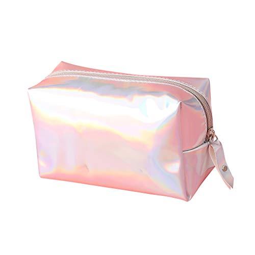 Mitlfuny handbemalte Ledertasche, Schultertasche, Geschenk, Handgefertigte Tasche,Art- und Weisedame Magic Color Waterproof Lipstick Storage Cosmetic Bag Clutch Bag