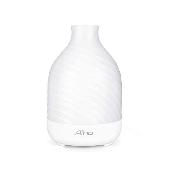Diffusore di Aromi Aiho Umidificatore ad Ultrasuoni Aromaterapia Terapie Diffusore con 7 colori LED Luci Ideale per Yoga…