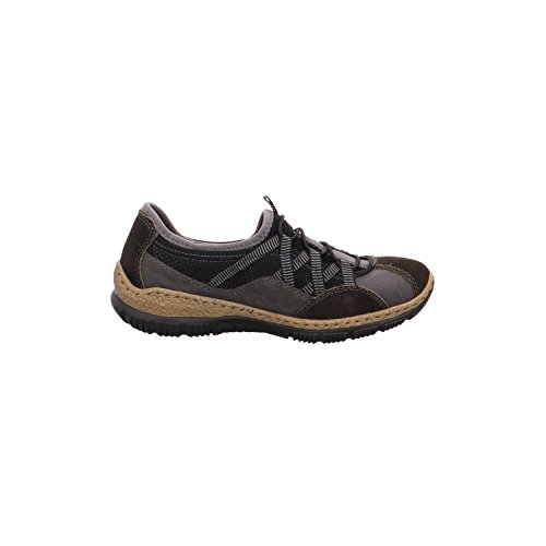 Rieker Damen N3251 Sneaker Grau (graphit/fumo/schwarz/schwarz/grey)
