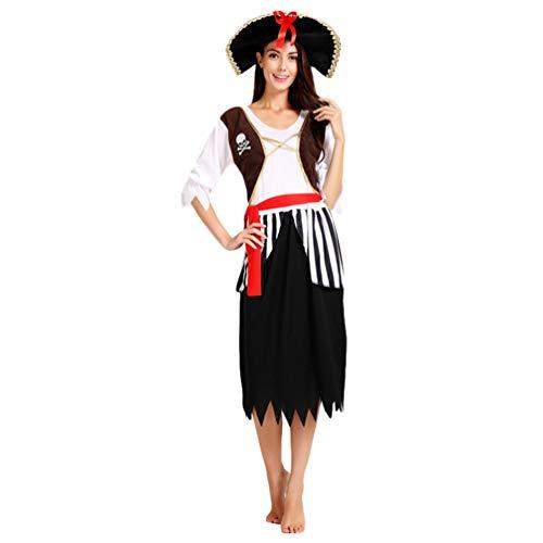 Jitong Partner Kostüme für Halloween Faschings Coole Piratenkostüm Erwachsene Karnevals Verkleidung (Pirat |Frauen, Eine Größe) (Partner-kostüme Coole Halloween Für)