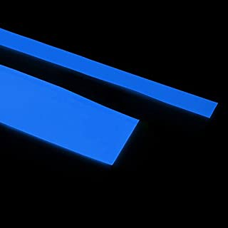 Glow in the Dark Adhesive Strip Vinyl Neon Tape (5 cm, White glows Blue)