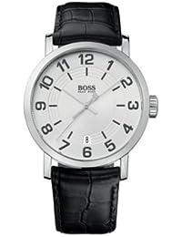 Hugo Boss Herren-Armbanduhr Analog Quarz Leder 1512363
