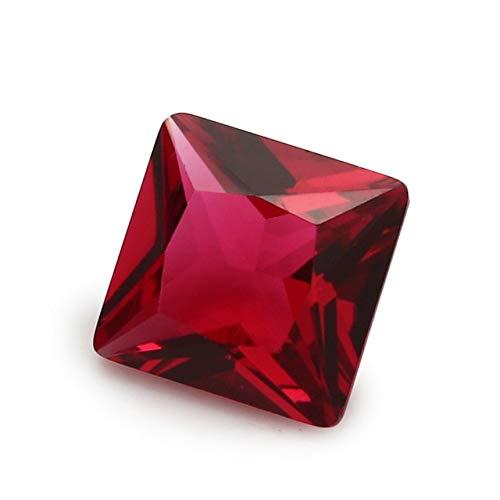 Calvas, 50 pietre di vetro quadrate, 2 x 2~12 x 12 mm, colore rosa, rosso, blu, verde e bianco rose red / 9x9mm