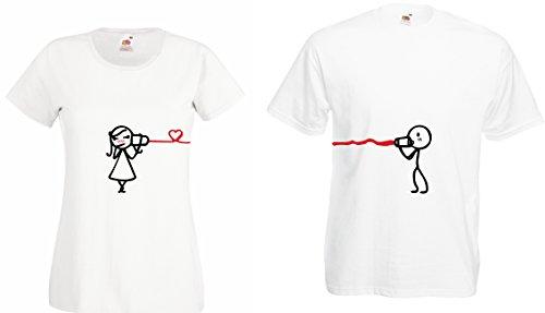 """TRVPPY Partner Herren + Damen T-Shirts """"HEARING THE LOVE"""" Weiß"""
