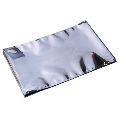 LEEQ 20 Stück Antistatische Taschen mit Oben offen für Motherboard Grafikkarte LCD Bildschirm mit Etiketten, 25,5 x 40 cm / 10 x 15,7 Zoll