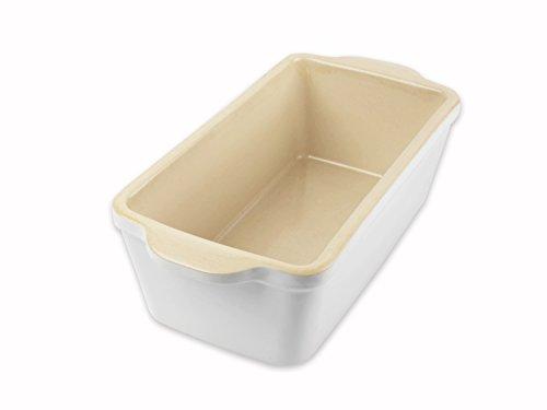 USA Pan 1140LF-SW-W-1 Stoneware Loaf Baking Dish, Pan