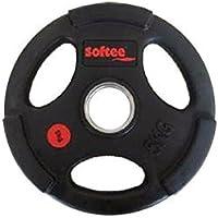Softee Equipment 24212.001 Disco Olímpico Uretano, Negro, S