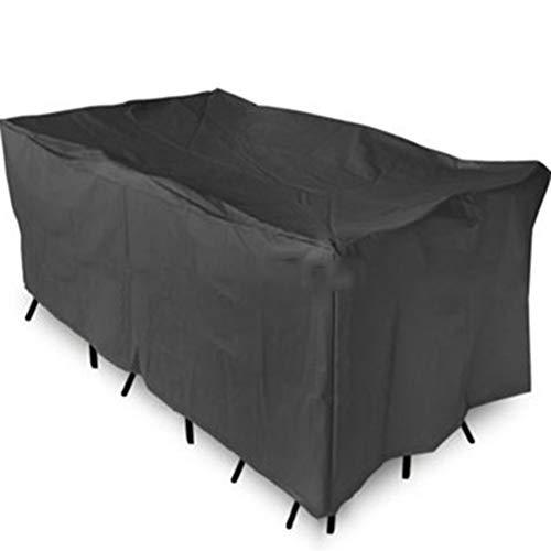 KSS-Cover Schutzhülle Staubschutzhaube, Draussen Möbel Tisch Und Stuhl Grill Bauholz Brennholzgestell Regenschutz, Regenfest Staubdicht,Black,250 * 250 * 90Cm