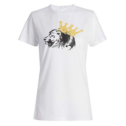 Lion King with Crown Damen T-Shirt hh300f -