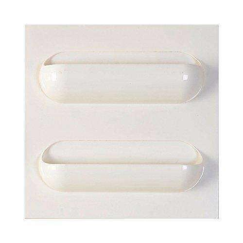 Dytiying Kunststoff selbstklebend Regal Rack Badezimmer Küche Wand Paste Lagerung Organizer Hängeregal, plastik, weiß, 2 Grids