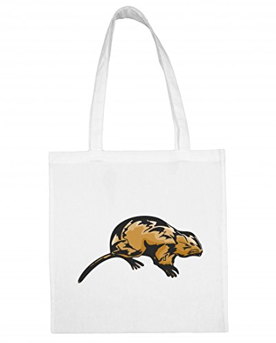 Jutebeutel 'Maus Hamster Kleintier Haustier Ungeziefer Käse Mausefalle Rattenfalle Hamsterrad' Baumwolltasche Einkaufstasche