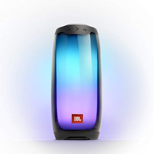 JBL Pulse 4 in Schwarz - Wasserdichter Bluetooth-Lautsprecher mit 360-Grad-Beleuchtung - Bis zu 12 Stunden Akkulaufzeit mit einer Ladung - Kabelloses Musikstreaming