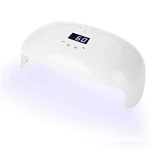 Nageltrockner 78 W, LED-UV-Nagellampe für 2 Hände mit 56 Licht und 4 Timer 10s / 30s / 60s / 99s weiß - 56 Ein Licht