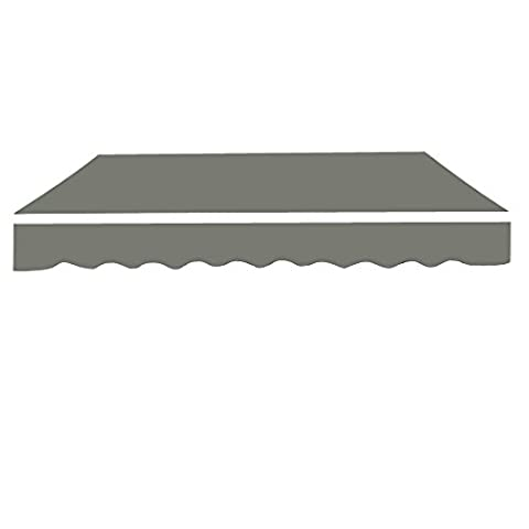 Greenbay 3.5x2.5m Garden Awning Replacement Fabric Top Cover Front Valance Grey