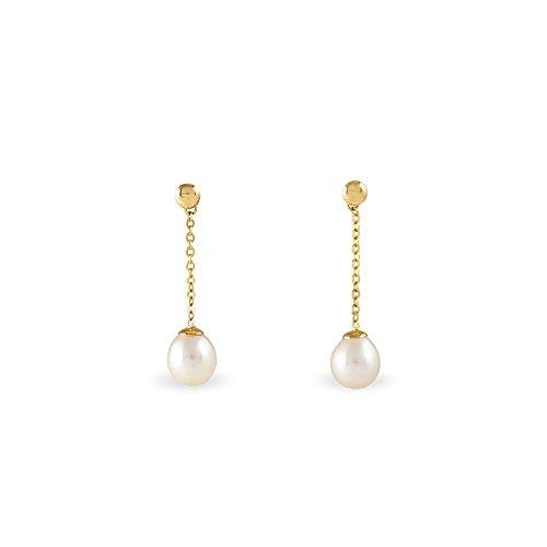 HISTOIRE D'OR - Boucles d'Oreilles Or Perle de Culture - Femme - Or jaune 375/1000