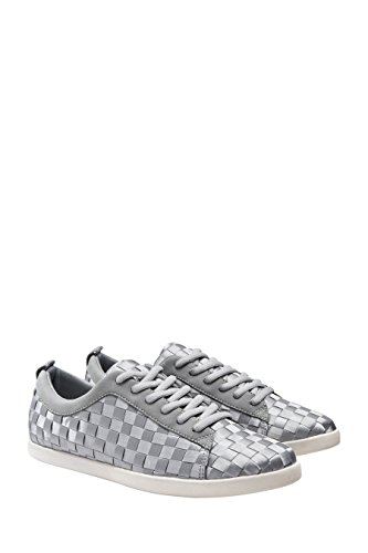 next Femme Baskets À Lacets En Satin Tissé Gris