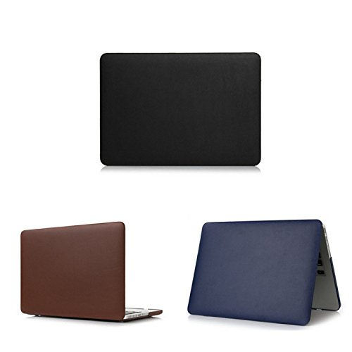 Tiankaid más Vendido Colores sólidos Cubierta de Cuero de Lujo Delgado de Cuerpo Completo para el macbook Retina 13.3 (Colores Surtidos), Brown