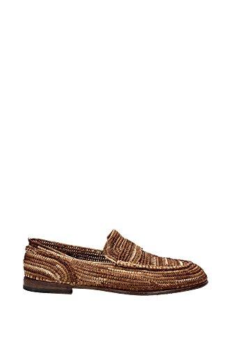 CA6556AF35480037 Dolce&Gabbana Loafers Herren Raffia Braun Braun