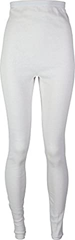 Indera Women's Combed Cotton Raschel Knit Thermal Underwear Pant, White, Medium by Indera