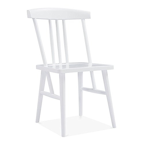 Cult Design Windsor Trinity Dining Chair, Solid Wood, White (Dining Chair Windsor)