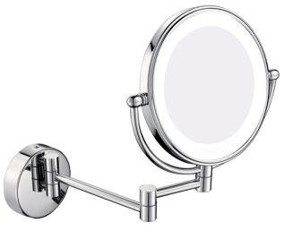 Specchio Per Trucco Da Parete.Excelvan Specchio Da Trucco Led 10x Eu Ingrandimento Doppia Faccia Specchio Illuminato Da Parete Con Finitura Cromata Per Bagno Spa E Hotel