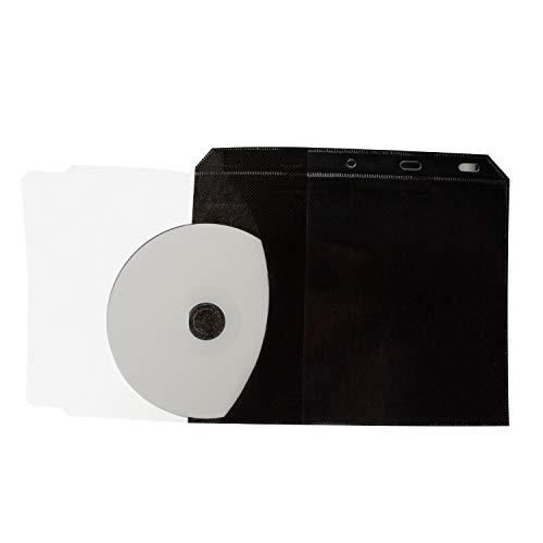 40 Stück Kronenberg24 CD DVD Blu Ray Hüllen PRO Ordner Sleeves 3in1 mit doppelseitigen Taschen für Cover, Booklets Einleger und 2 Disks 2-cd-tasche