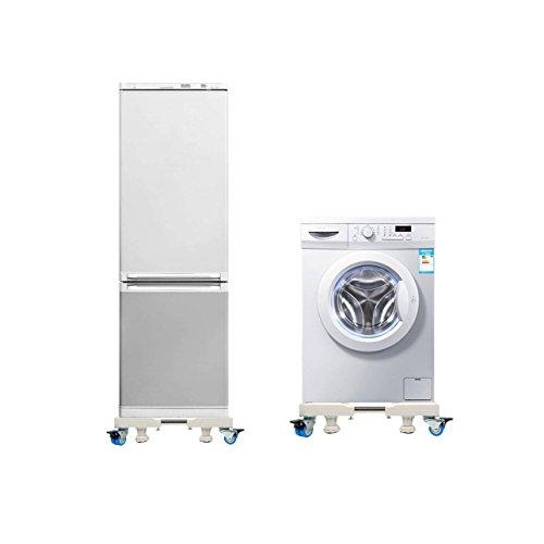 Sockel Swivel (YaeTek Multifunktion beweglich Basis Sockel Untergestell mit 4 x 2 arretierbare Gummi Swivel Rädern und 4 erhöhenden Füßen Mobile Fall Roller Dolly für Waschmaschine, Trockner und Kühlschrank)