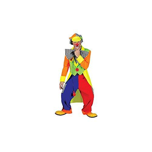 Clown Kostüm Spanky Stripes - Funny Fashion FF60631-L Mens Spanky Stripes Clown Kost-m Gr--e Large