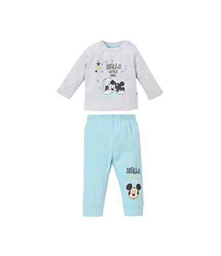 Disney Mickey Camiseta y pantalón Corto Gris